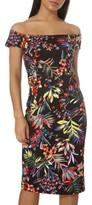 Dorothy Perkins Women's Tropical Bardot Pencil Dress