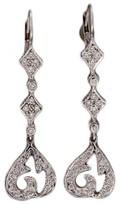 Doris Panos 18K White Gold .70ct Drop Dangle Earrings