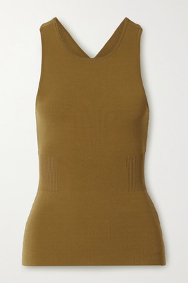 Proenza Schouler White Label Interlock Cutout Cotton-blend Tank - Light brown