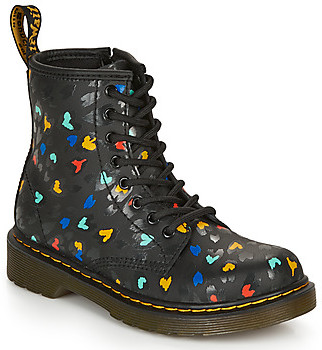 Dr. Martens 1460 J HEARTS girls's Mid Boots in Black
