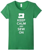 Women's Keep calm and sew on T-Shirt Small
