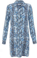 Equipment Lucida Snake Print Silk Dress
