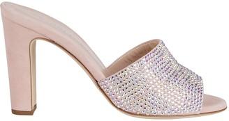 Giuseppe Zanotti Pink Leather Mules
