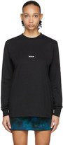 MSGM Black Micro Logo Long Sleeve T-Shirt