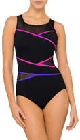 Jantzen Poolproof Mesh Taped High Neck One Piece