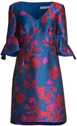 Trina Turk Tour The Vineyard Jacquard A-Line Dress
