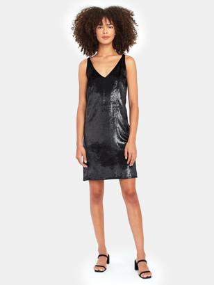 J Brand Brielle Velvet Mini Slip Dress
