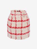 Alexander McQueen Dogtooth Check Mini Skirt