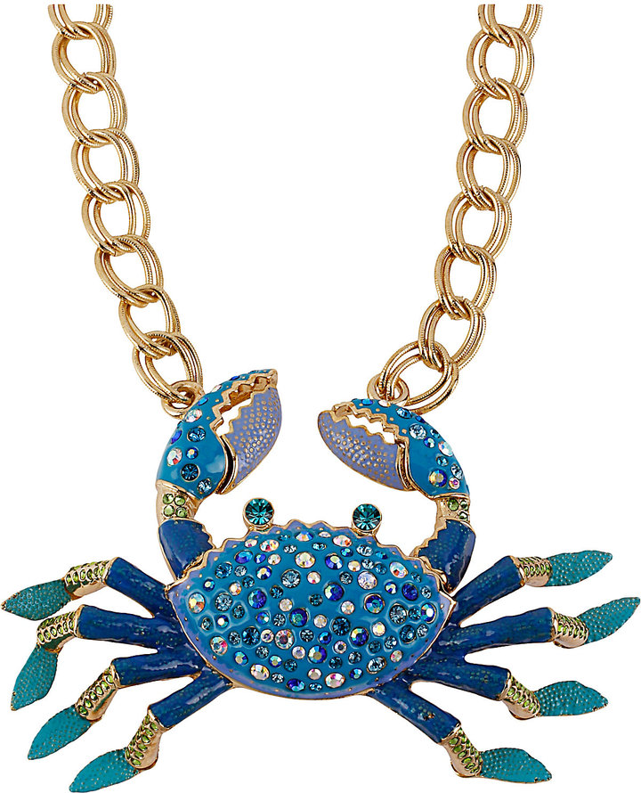 Betsey Johnson Sea Jewels Crab Frontal Necklace