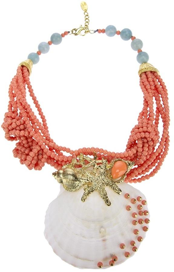 Katerina Psoma large shell necklace
