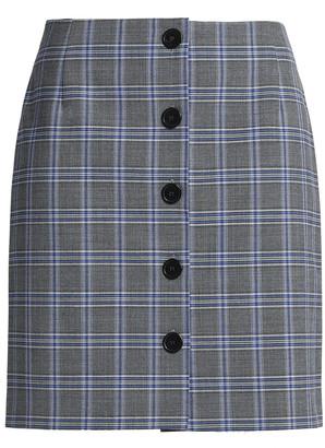 Claudie Pierlot Checked Woven Mini Skirt