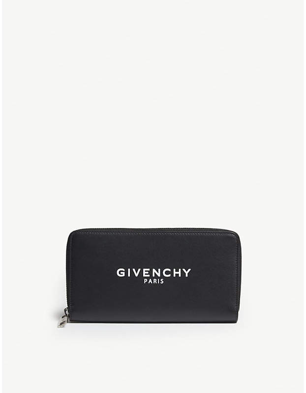 Givenchy Logo long leather wallet