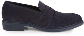 HUGO BOSS Suede Penny Loafers