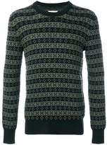 Maison Margiela patterned knit crew neck sweater