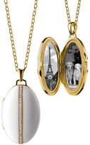 Monica Rich Kosann Oval White Ceramic Locket