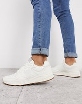 Polo Ralph Lauren trackster leather sneakers in white