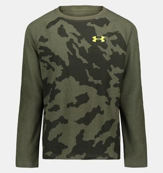 Under Armour Boys' UA Fury Camo Raglan Long Sleeve T-Shirt