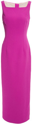 Emilia Wickstead Cleo Cutout Textured-crepe Maxi Dress