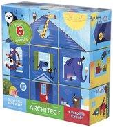 "Crocodile Creek Little Architect Boy Builder Jumbo Block Mix and Match Stacking Set, 3.5"""
