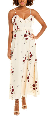 Joie Cassiel Silk-Trim Midi Dress