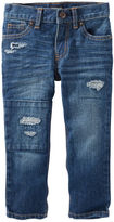Osh Kosh Rip-&-Repair Straight Jeans - Pure Indigo