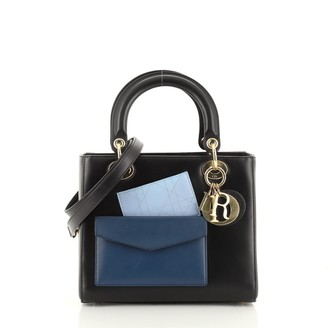 Christian Dior Pockets Lady Bag Leather Medium