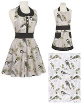 Now Designs Adult and Child Apron Gift Set - Includes Gift with Purchase of Matching Print Teatowel