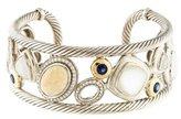 David Yurman Mother of Pearl & Quartz Doublet Mosaic Cuff Bracelet