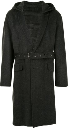 SONGZIO Slim Notched Reversible Hooded Coat