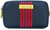 DSQUARED2 striped logo washbag - men - Polyester - One Size