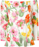 Blugirl off-the-shoulder floral blouse - women - Viscose - 44