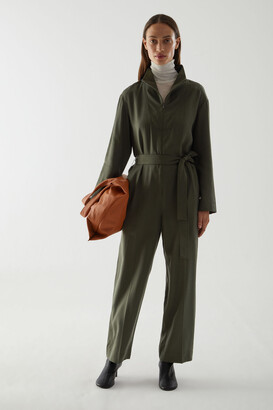 Cos Straight Belted Jumpsuit