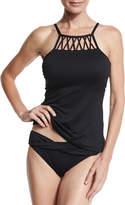 Seafolly High-Neck Tankini Swim Top, Black