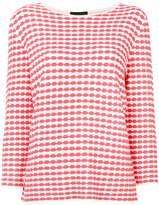 Emporio Armani geometric-print sweater