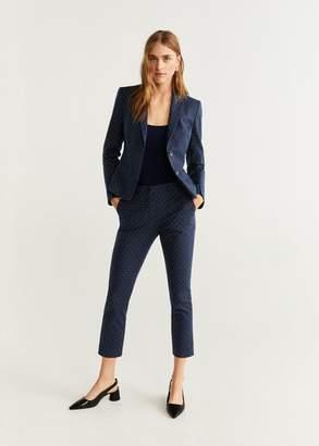 MANGO Printed blazer night blue - 2 - Women