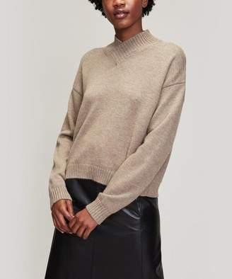 Cavallini Erika High V-Neck Alpaca-Blend Sweater