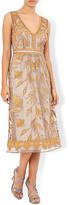 Monsoon Tawny Embroidered Sleeveless Dress