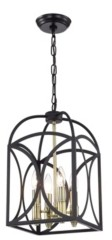 """Home Accessories Wenibal 13"""" 4-Light Indoor Pendant Lamp with Light Kit"""