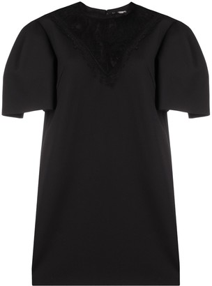 Alexander McQueen Lace-Panel Mini Dress