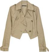 Asymmetric cropped jacket