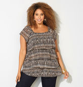Avenue Tiered Ikat Peasant Top