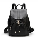 Hynbase PU Leather Shoulders Bag Hasp Drawstring Backpack Pretty Schoolbag for Girls