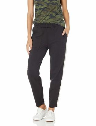 Monrow Women's Patch Pocket Pants with Stripe Rib