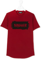 DSQUARED2 logo print T-shirt - kids - Cotton - 14 yrs
