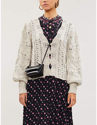 Free People Dreamer collarless knitted cardigan