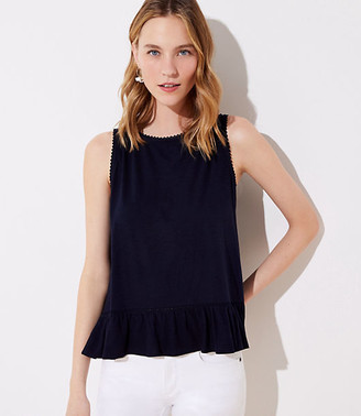 LOFT Lace Trim Tulip Back Tank Top