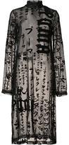 Puma sheer velvet graphic print dress
