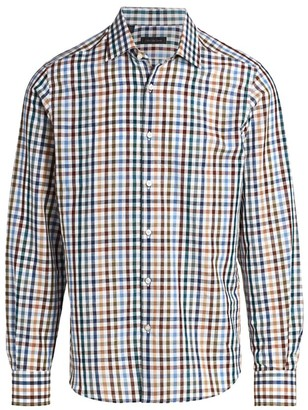 Saks Fifth Avenue COLLECTION Multicolor Gingham Shirt