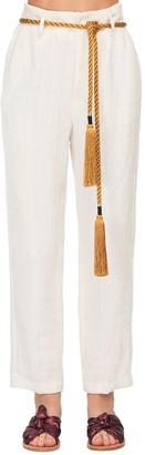 Forte Forte High Waist Linen Herringbone Pants