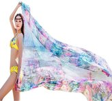 Bikini Cover Up Wrap,Doinshop Women Super Thin Long Shawl Chiffon Scarf